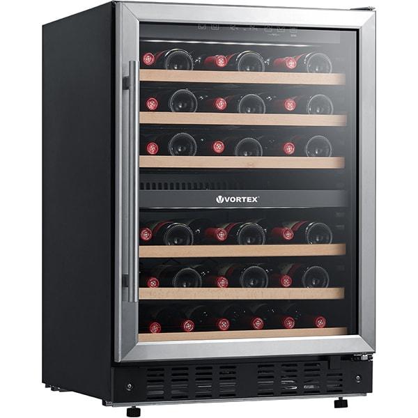 Racitor de vinuri VORTEX VO1023, 44 sticle, H 87 cm, Clasa B, negru