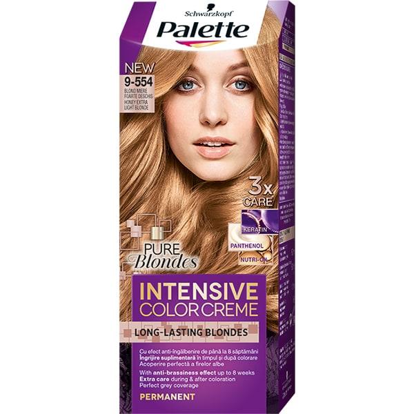 Vopsea de par PALETTE Intensive Color Creme, 9-554 Blond Miere, 110ml