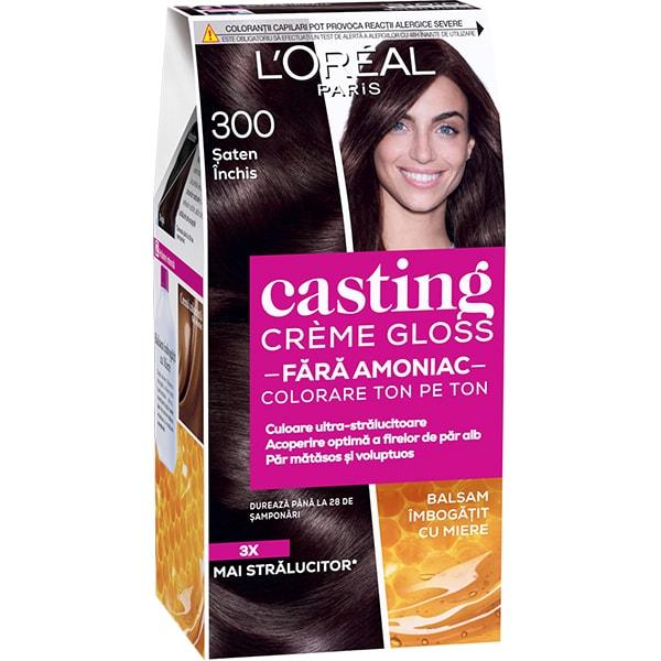 Vopsea de par L'OREAL Paris Casting Creme Gloss, 300 Chat Fonce, 180ml