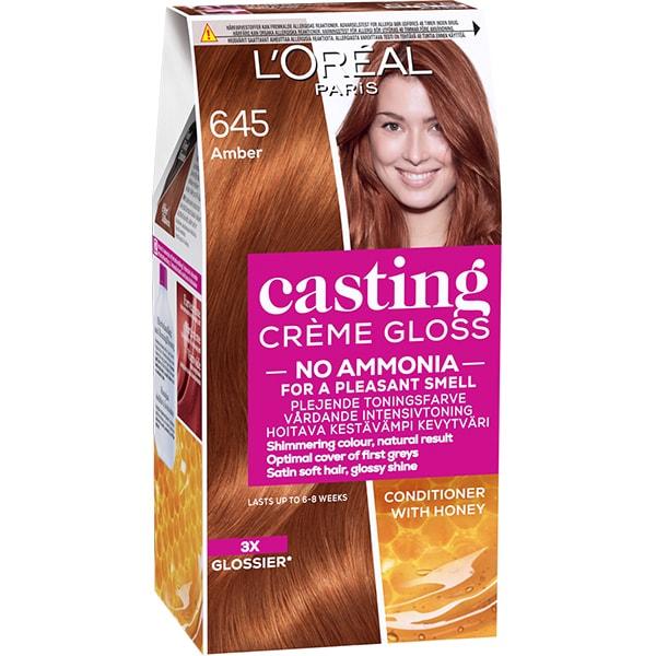 Vopsea de par L'OREAL Paris Casting Creme Gloss, 645 Chihlimbar, 180ml