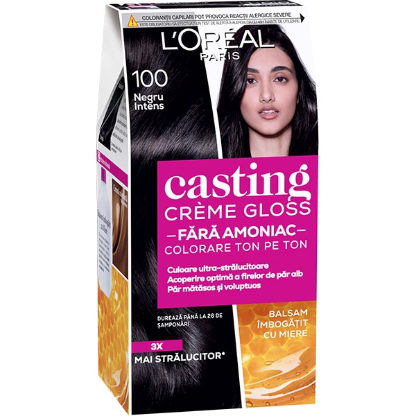 Vopsea de par L'OREAL Paris Casting Creme Gloss, 100 Black Licorice, 180ml