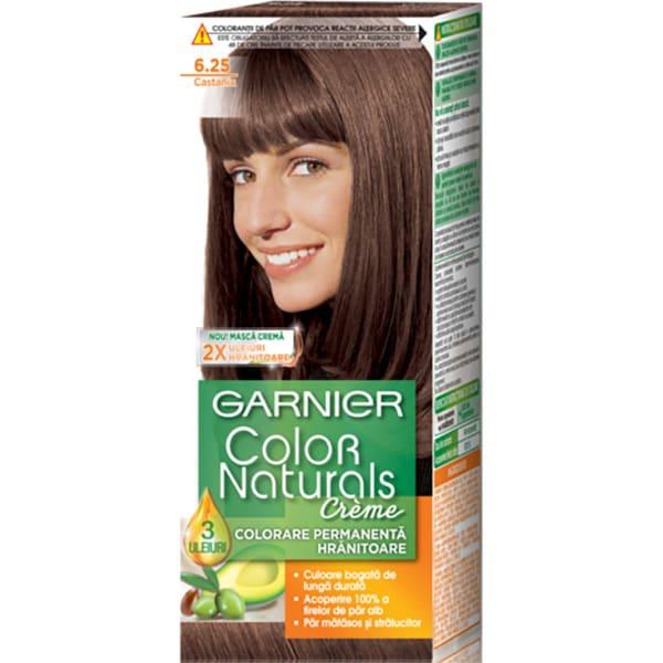 Vopsea de par GARNIER  Color Naturals, 6.25 Castaniu, 110ml