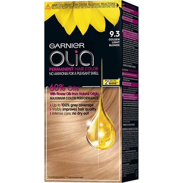 Vopsea de par GARNIER  Olia, 9.3 Golden Light Blonde, 112ml