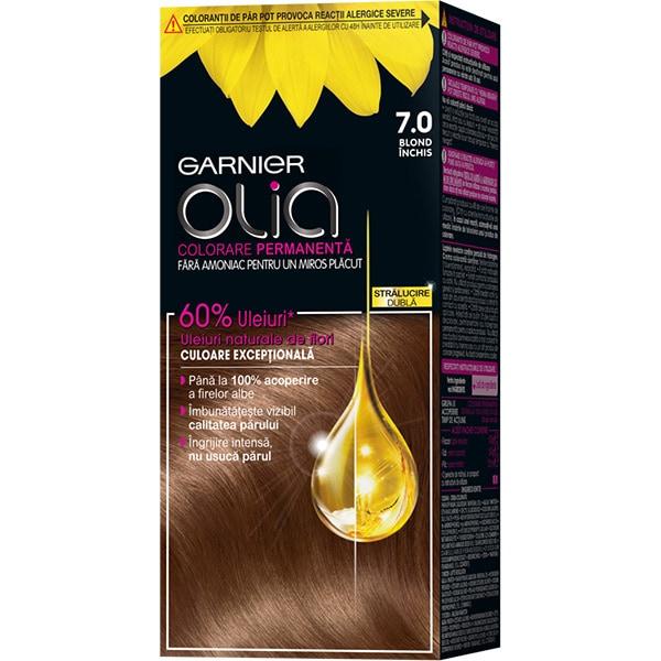 Vopsea de par GARNIER  Olia, 7.0 Blond Inchis, 112ml