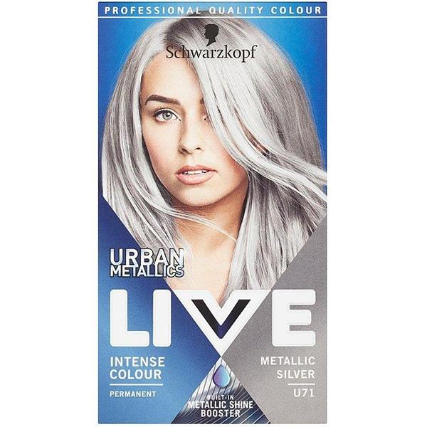 Vopsea de par LIVE Color Urban Metallics, U71 Metallic Silver, 142.5ml