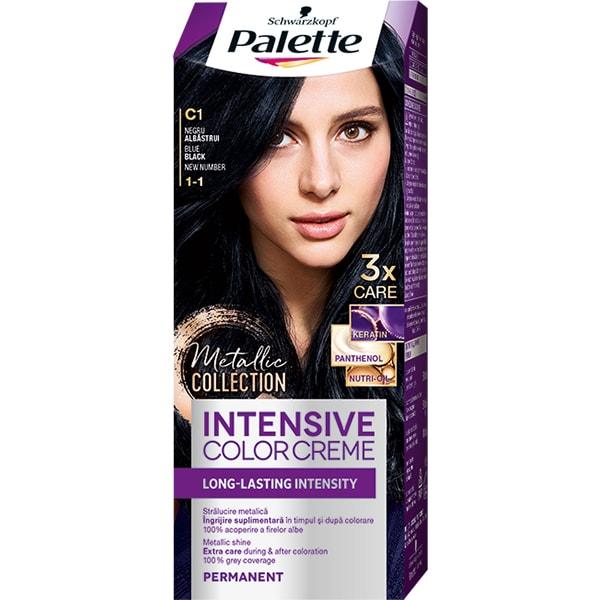 Vopsea de par PALETTE Intensive Color Creme, C1 Negru Albastru, 110ml
