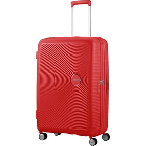 Troler AMERICAN TOURISTER Spinner SoundBox, 77 cm, rosu coral