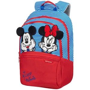 Ghiozdan SAMSONITE Disney Ultimate 2.0 Minnie/Mickey Stripes M, albastru-rosu