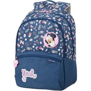 Ghiozdan SAMSONITE Funtime Disney Minnie Doodles L, albastru-roz