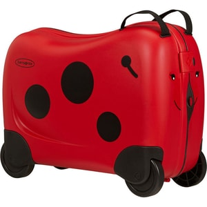 Troler copii SAMSONITE Dream Rider Ladybird L, 37 cm, rosu-negru