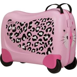 Troler copii SAMSONITE Dream Rider Leopard L, 37 cm, roz-negru