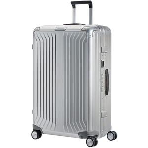 Troler SAMSONITE Spinner Lite-Box Aluminiu, 76 cm, argintiu