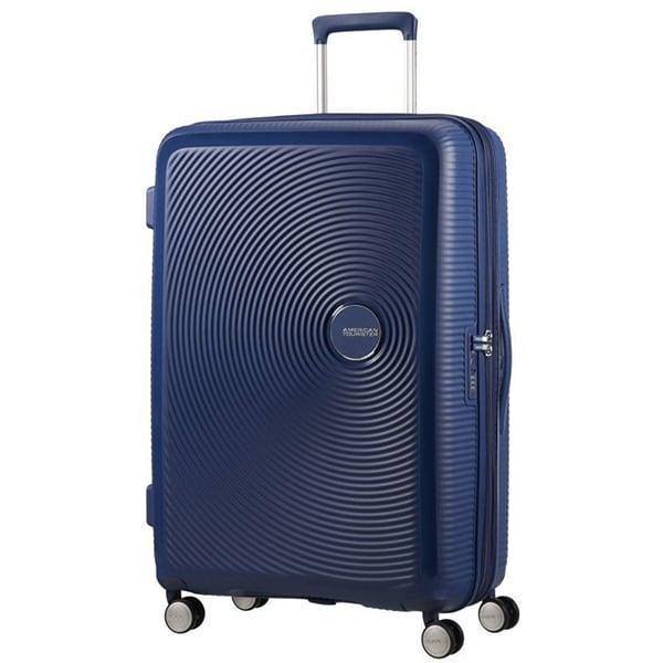 Troler AMERICAN TOURISTER Spinner SoundBox, 77 cm, albastru