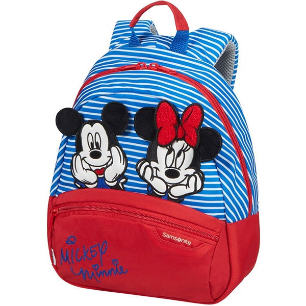 Ghiozdan SAMSONITE Disney Ultimate 2.0 Minnie/Mickey Stripes S, albastru-rosu