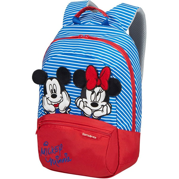 Ghiozdan SAMSONITE Disney Ultimate 2.0 Minnie/Mickey Stripes S+, albastru-rosu