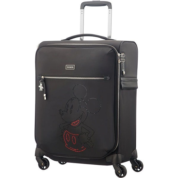 Troler copii SAMSONITE Spinner Karissa Disney Mickey, 55 cm, negru