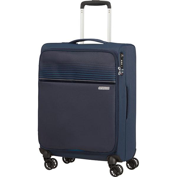 Troler AMERICAN TOURISTER Spinner Lite Ray, 55 cm, albastru