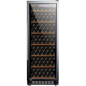 Racitor de vinuri VORTEX VWC27SBK01G, 143 sticle, H 162.5 cm, Clasa G, negru