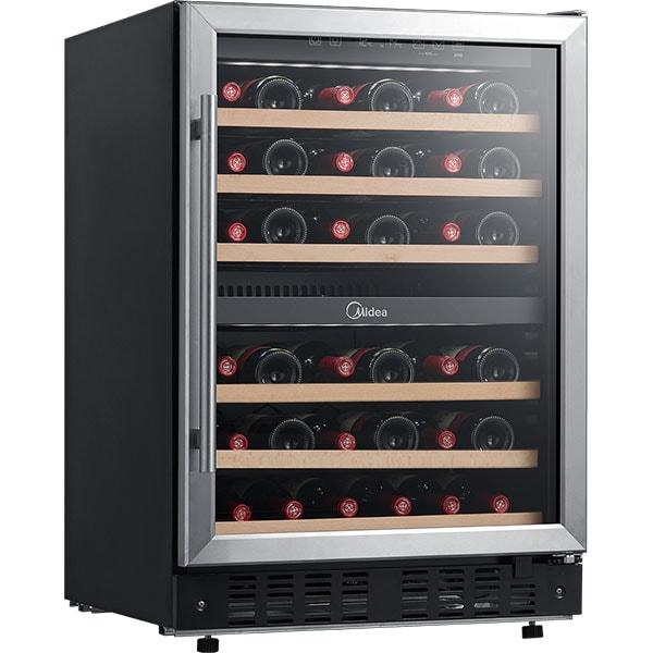 Racitor de vinuri VORTEX VWC14SBK01M, 44 sticle, H 87 cm, Clasa G, negru