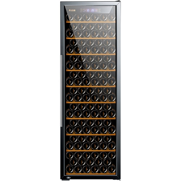 Racitor de vinuri VORTEX VWC49SBK01G, 214 sticle, H 180 cm, Clasa B, negru
