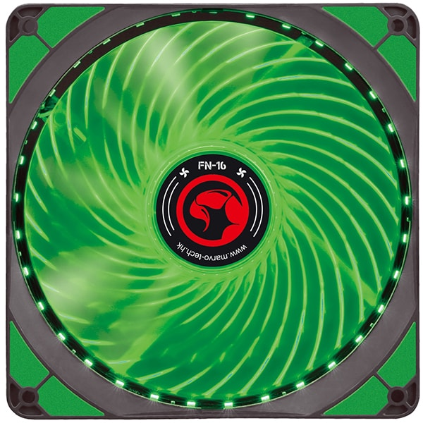Ventilator MARVO FN-16, led verde, 140mm, 1500rpm