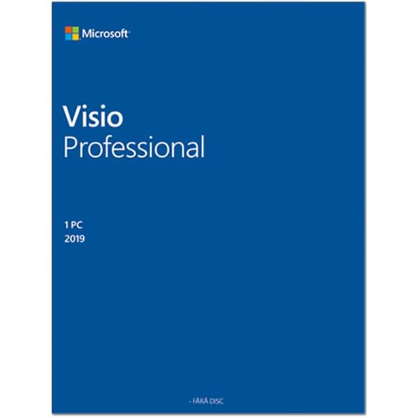 Licenta electronica Microsoft Visio 2019 Professional, 1 dispozitiv, ESD