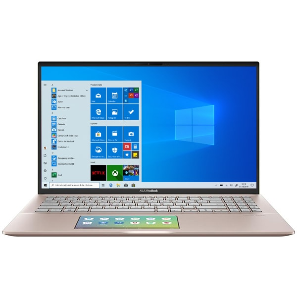 "Laptop ASUS VivoBook S15 S532FL-BQ305T, Intel Core i7-8565U pana la 4.6GHz, 15.6"" Full HD, 16GB, SSD 512GB, NVIDIA GeForce MX250 2GB, Windows 10 Home, Punk Pink"