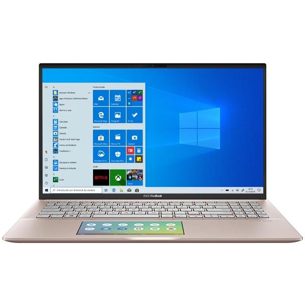 """Laptop ASUS VivoBook S15 S532FA-BQ056T, Intel Core i5-8265U pana la 3.9GHz, 15.6"""" Full HD, 8GB, SSD 512GB, Intel UHD Graphics 620, Windows 10 Home, Punk Pink"""