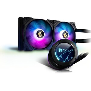 Cooler procesor cu racire lichida GIGABYTE AORUS WATERFORCE X 280, 2x140mm, iluminare ARGB
