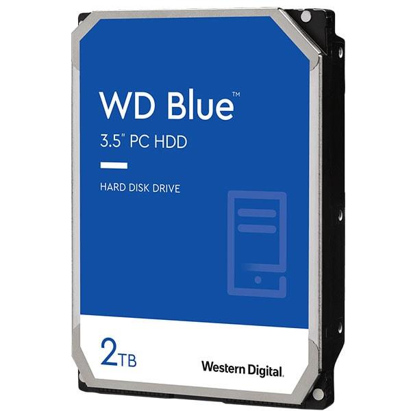 Hard Disk desktop WD Caviar Blue, 2TB, 5400 RPM, SATA 3, 256MB, WD10EZEX