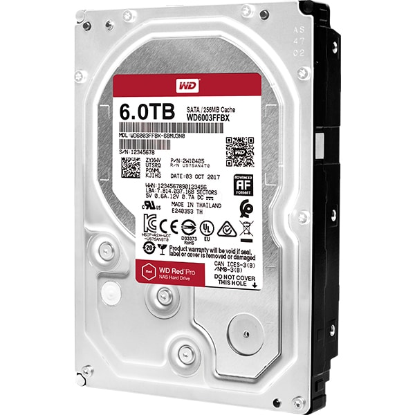 Hard Disk desktop WD Red Pro, 6TB, 7200 RPM, SATA3, 256MB, WD6003FFBX