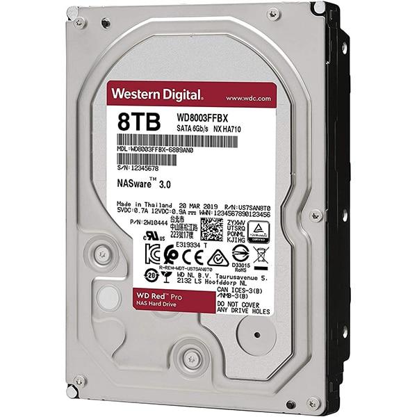 Hard Disk NAS desktop WD Red Pro, 8TB, 7200 RPM, SATA3, 256MB, WD8003FFBX