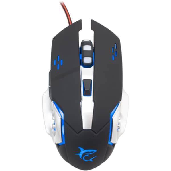 Mouse Gaming WHITE SHARK Leonidas, 3200 dpi, negru