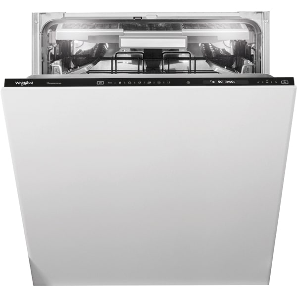 Masina de spalat vase incorporabila WHIRLPOOL WIF 5O41 PLEGTS, 14 seturi, 11 programe, 60 cm, Clasa C, negru