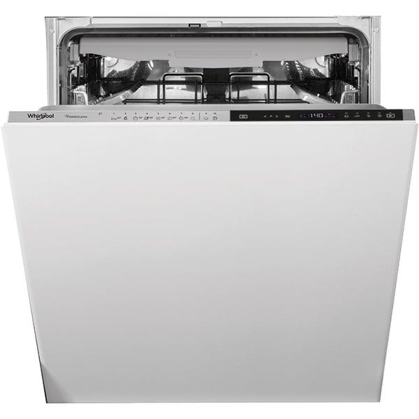 Masina de spalat vase incorporabila WHIRLPOOL WIP 4T233 PFEG, 14 seturi, 10 programe, 60 cm, Clasa D, negru