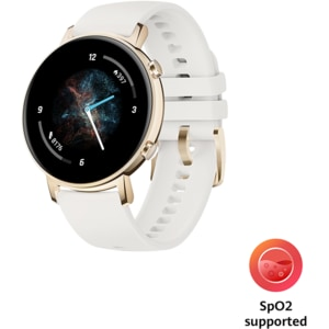 Smartwatch HUAWEI Watch GT 2 42mm, Android/iOS, silicon, Sport Edition, Frosty White