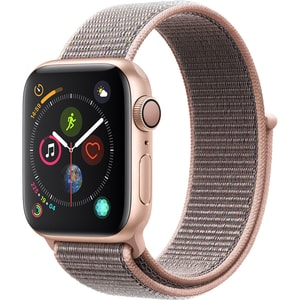 APPLE Watch Series 4 40mm Gold Aluminium Case, Pink Sand Sport Loop