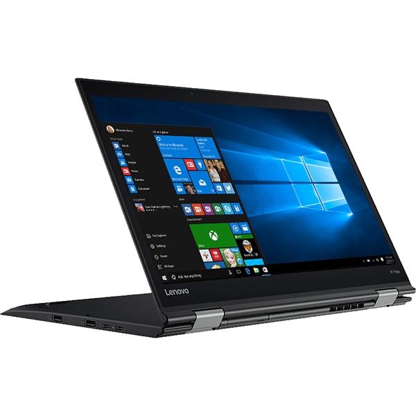 "Laptop 2 in 1 LENOVO ThinkPad X1 Yoga Gen 2, Intel Core i7-7600U pana la 3.9GHz, 14"" QHD Touch, 16GB, SSD 512GB, Intel HD Graphics 620, Windows 10 Pro, Negru"