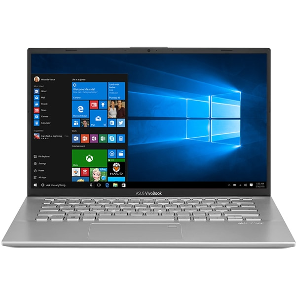 "Laptop ASUS VivoBook 14 X412FA-EB021T, Intel® Core™ i5-8265U pana la 3.9GHz, 14"" Full HD, 8GB, SSD 256GB, Intel UHD Graphics 620, Windows 10 Home, Argintiu"