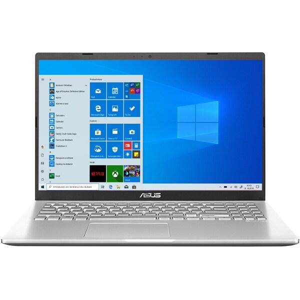 "Laptop ASUS X509MA-BR310T, Intel Celeron N4020 pana la 2.8GHz, 15.6"" HD, 4GB, SSD 256GB, Intel UHD Graphics 600, Windows 10 Home, argintiu"