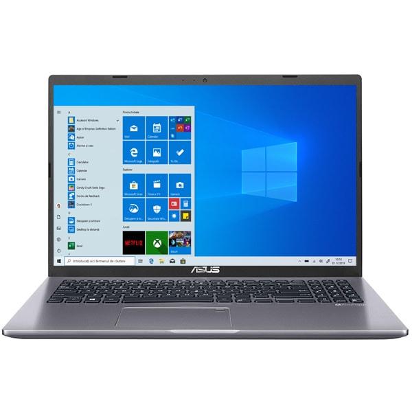 "Laptop ASUS X509MA-BR022T, Intel Celeron N4000 pana la 2.6GHz, 15.6"" HD, 4GB, 1TB, Intel UHD Graphics 600, Windows 10 Home, gri"