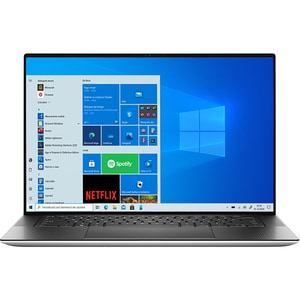 "Laptop DELL XPS 15 9510, Intel Core i9-11900H pana la 4.9GHz, 15.6"" UHD+ Touch, 32GB, SSD 2TB, NVIDIA GeForce RTX 3050 Ti 4GB, Windows 10 Pro, argintiu"