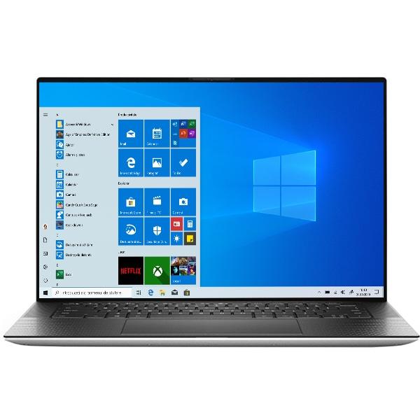 "Laptop DELL XPS 9500, Intel Core i7-10750H pana la 5GHz, 15.6"" WUXGA, 32GB, SSD 1TB, NVIDIA GeForce GTX 1650 Ti 4GB, Windows 10 Pro, argintiu"