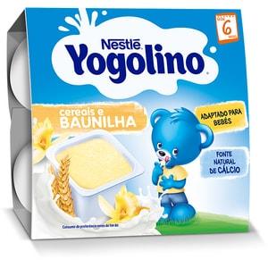 Gustare NESTLE Yogolino Gris cu lapte 12344622, 6 luni+, 4 x 100g