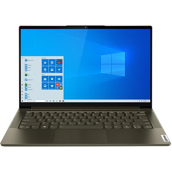 "Laptop LENOVO Yoga Slim 7 14IIL05, Intel Core i7-1065G7 pana la 3.9GHz, 14"" Full HD, 16GB, 1TB, Intel Iris Plus Graphics, Windows 10 Home, verde inchis"