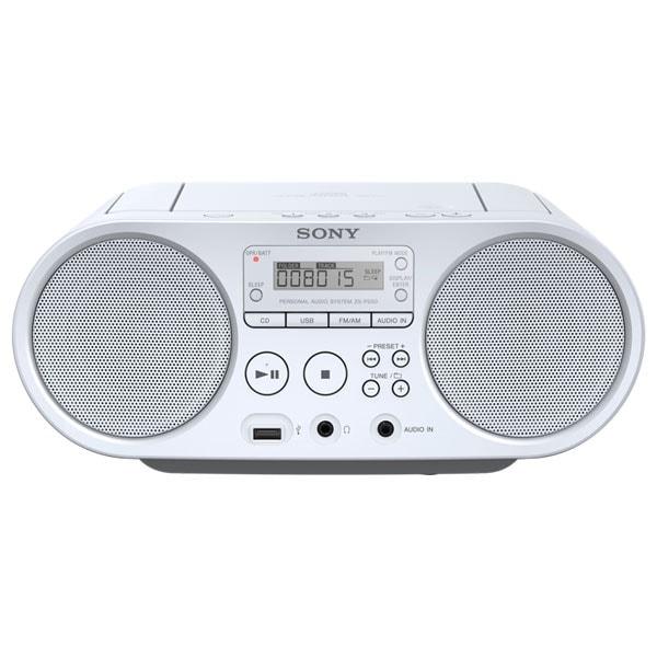Radio CD portabil SONY ZS-PS50, FM, USB, alb