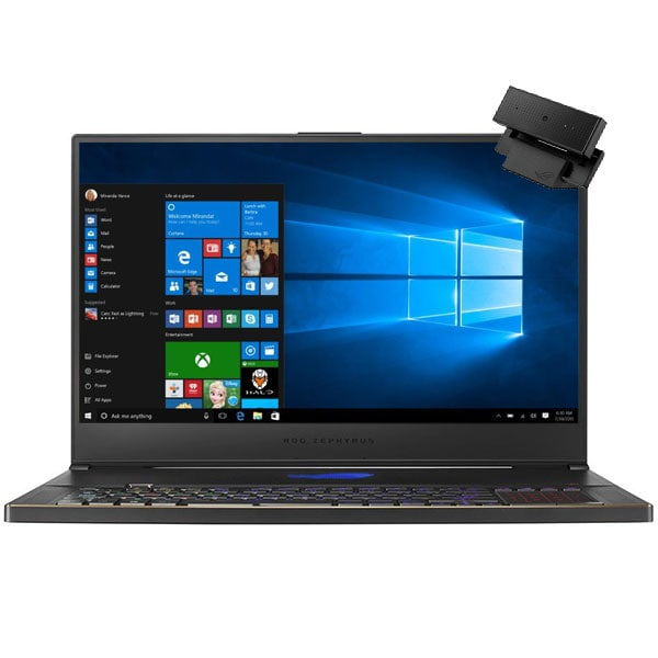 "Laptop Gaming ASUS ROG Zephyrus S17 GX701LXS-HG042T, Intel Core i7-10875H pana la 5.1GHz, 17.3"" Full HD, 32GB, SSD 1TB, NVIDIA GeForce RTX 2080 Max-Q Design 8GB, WebCam, Windows 10 Home, negru"