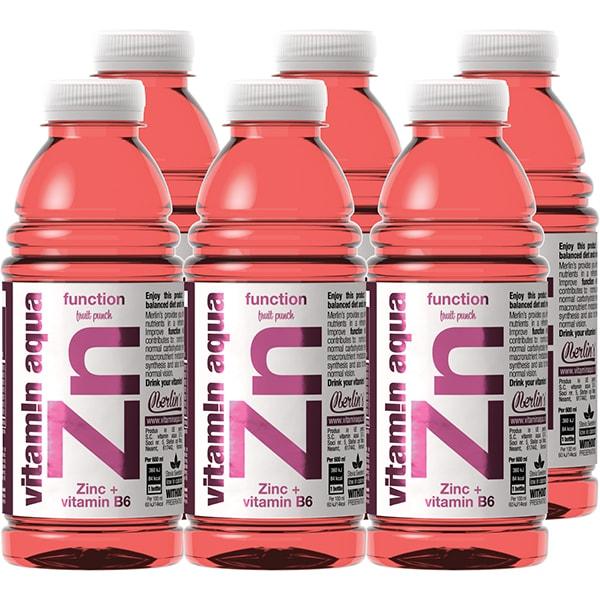 Apa cu vitamine ZN VITAMIN AQUA Fruit Punch bax 0.6L x 6 sticle