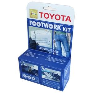Set accesorii TOYOTA Kit Denim: piciorus presor mobil cu pasi + suport jeans + 3 suveici + 2 x 100 ace