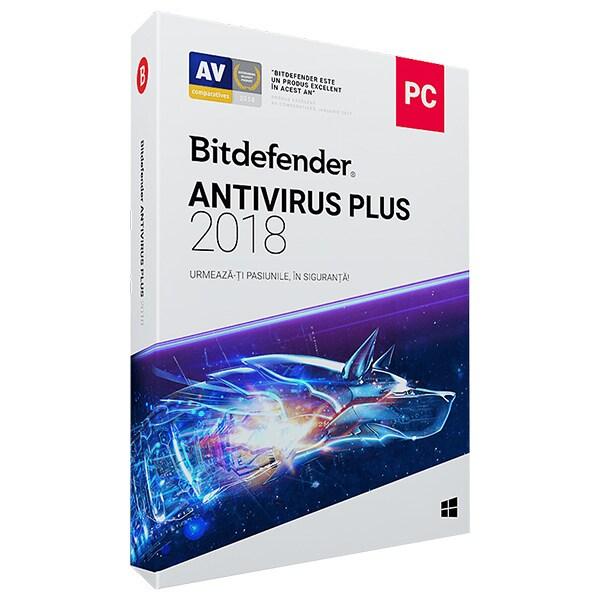 BITDEFENDER Antivirus Plus 2018, 1 an, 1 PC